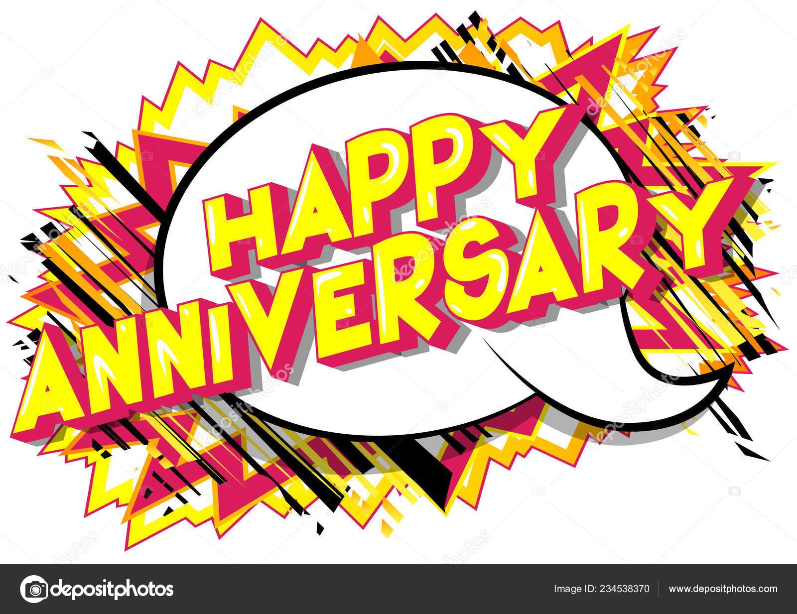 Feliz Aniversario Frase Estilo Ilustrado Libro Historietas