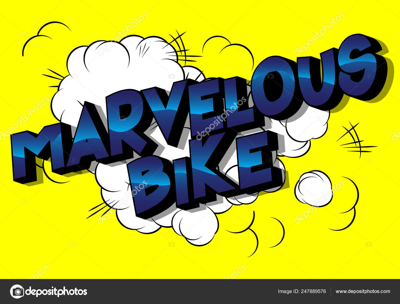 Maravillosa Bicicleta Frase Estilo Ilustrado Libro
