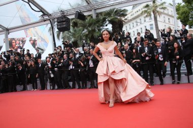 Inanna Sarkis attends the screening of 'Yomeddine' during the 71st annual Cannes Film Festival at Palais des Festivals on May 9, 2018 in Cannes, France.