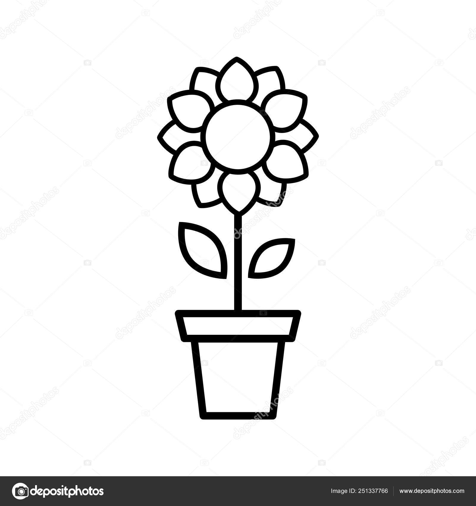 Vector Image Cartoon Cute Sunflower Vector Outline Pot Stock Vector C Julia January 251337766 Giant rose petal template free. vector image cartoon cute sunflower vector outline pot stock vector c julia january 251337766