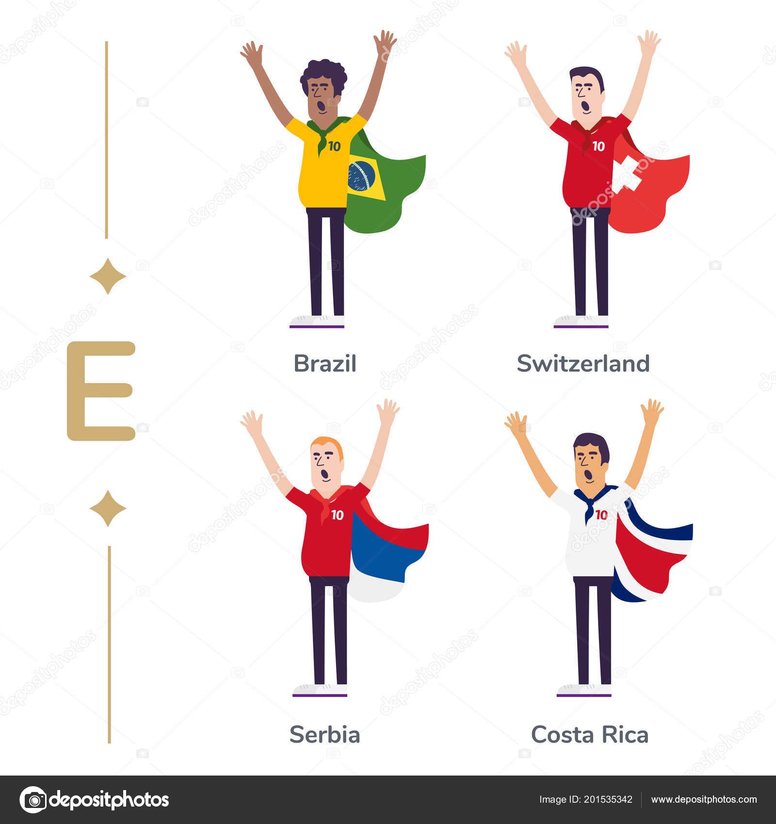 8cc85792c4162 Los fanáticos del fútbol nacionales equipos de apoyo. Fanático del fútbol  con la bandera. Brasil