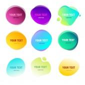 Abstraktní kulaté tvary pro text. Efekt přechodu ostré barvy. Duplexové stylu kruhy. Prvky loga