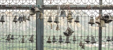 Bell hanging in hindu lord temple