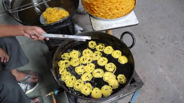 Indian traditional sweet food jalebi, made of gram flour sugar syrup