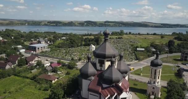 Aerea chiesa cittá Burshtyn, Ucraina