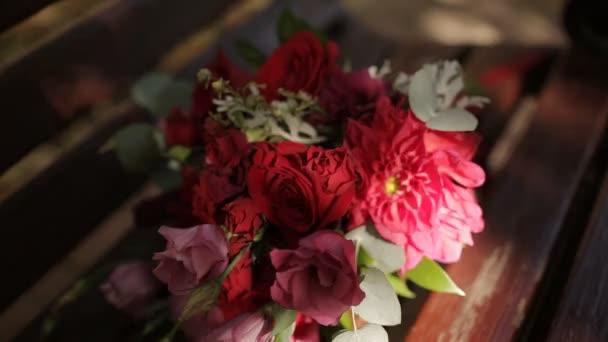 Bridal bouquet in an interior room, Bride
