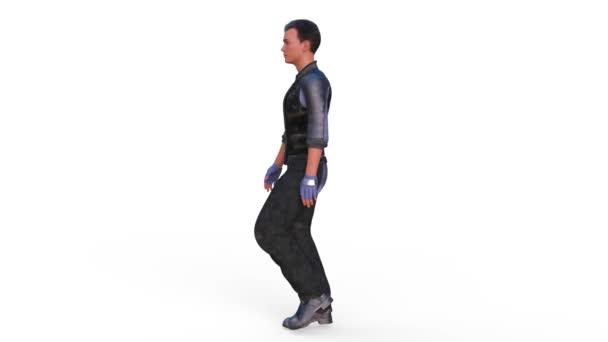 A piedi super eroe / rendering 3d Cg di un super eroe a piedi.
