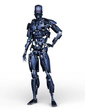 Robot/3D CG rendering of a robot.