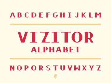 Visitor alphabet. Vector alphabet