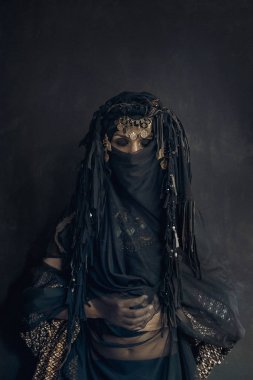 eastern woman princess costume conceptual portrait