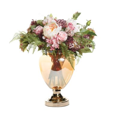 Beautiful bouquet in pastel colors isolated on white background. stock vector