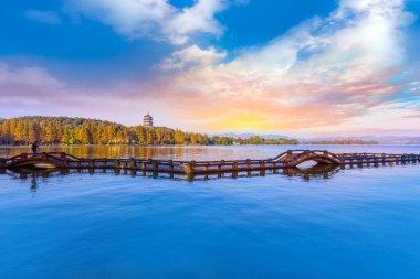 The beautiful landscape of West Lake, Hangzhou