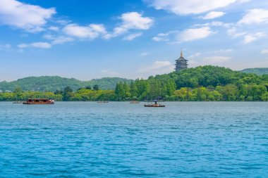 Beautiful landscape and landscape in West Lake, Hangzhou, China