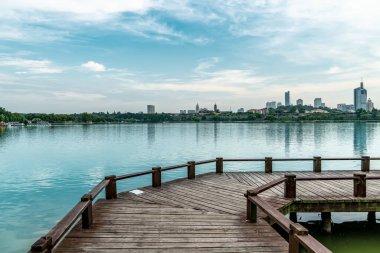 Lake Lotus Pond and Landscape Scener