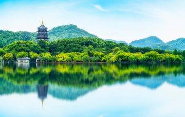 Landscape of West Lake in Hangzho