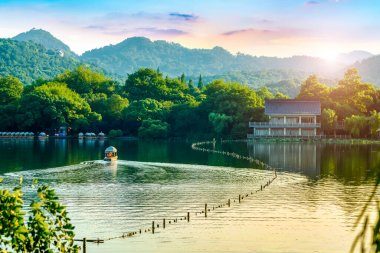 The Beautiful Landscape of West Lake in Hangzho