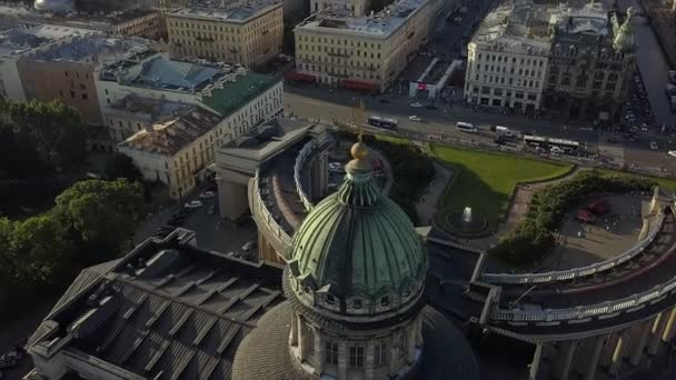 Beautiful aerial view on Kazan Cathedral in the center of Saint-Petersburg city.