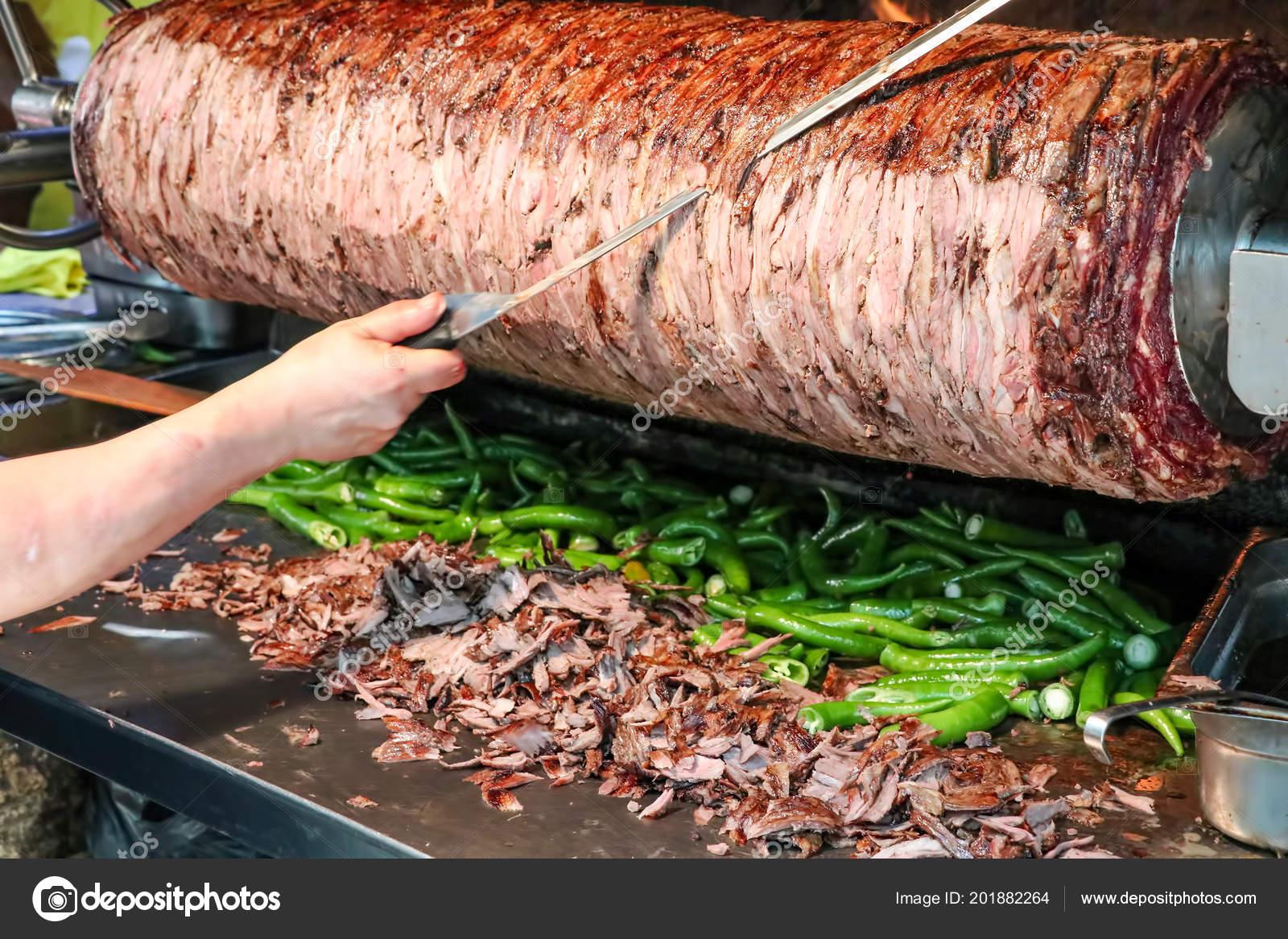 Traditional Turkish Kebab Doner Kebab Cag Kebab Stock Photo Image By C Esindeniz 201882264
