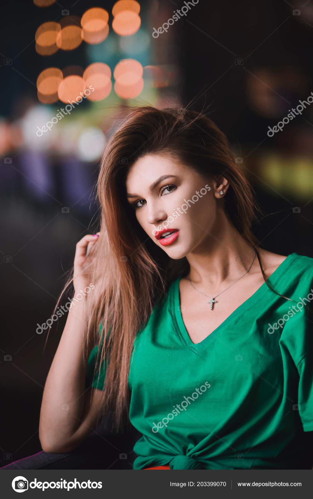 0abcbd27836a Emotional Portrait Fashion Stylish Sexy Young Hipster Blonde Woman Elegant  — Stockfoto