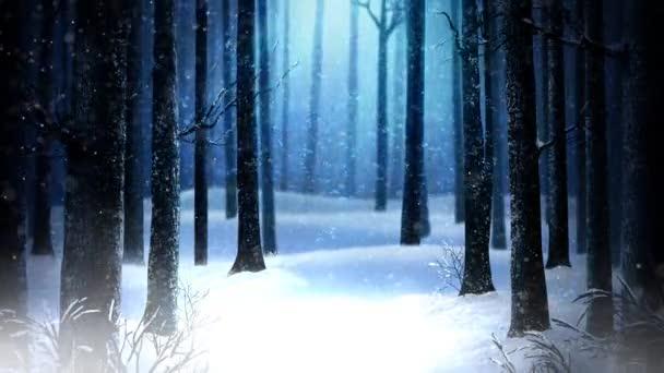 c488e338899b1 Morto Características Inverno Woods Loop Árvores Uma Floresta Silhueta  Inverno — Vídeo ...