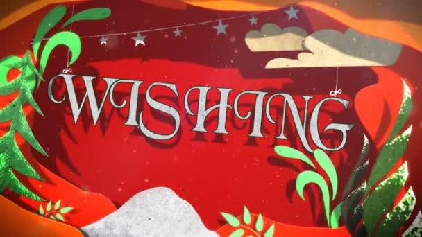 Immagini Animate Buon Natale E Felice Anno Nuovo.Buon Natale Felice Anno Nuovo Paper Cut Out Loop Dispone Video