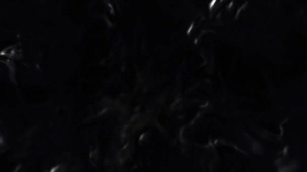 schwarze, glänzende Blobententententakel 4k loop mit schwarzen, glänzenden Globs, die in einer Schleife auf den Betrachter zuwirbeln