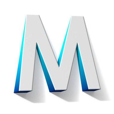 Blue gradient Letter M 3D