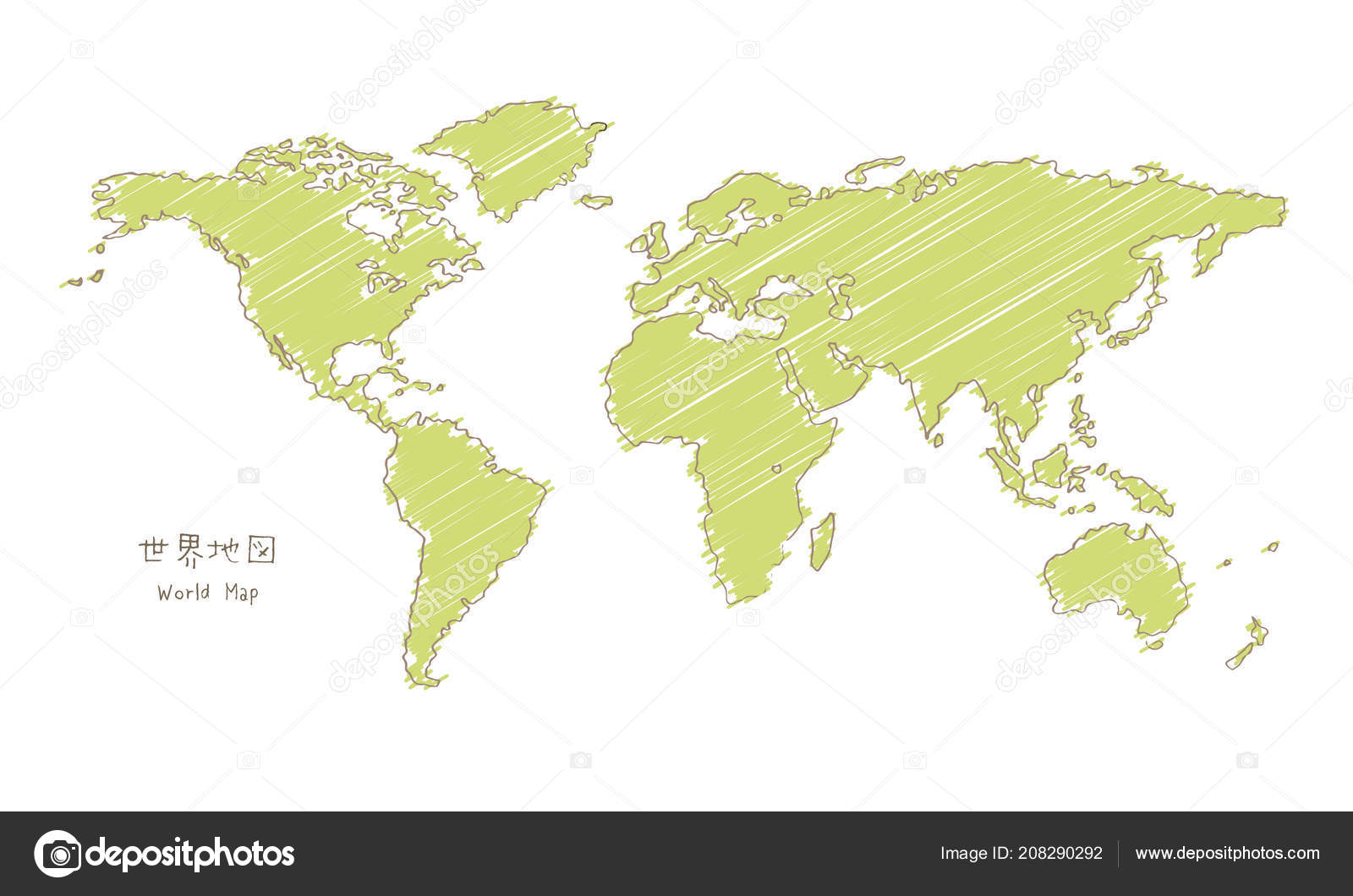 Hand drawn sketch world map mercator projection translation japanese hand drawn sketch world map mercator projection translation japanese world stock vector gumiabroncs Images