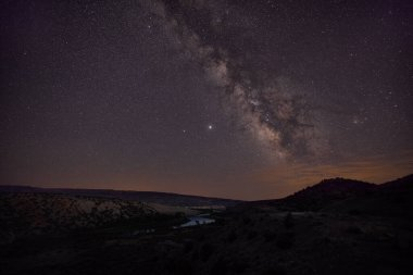 The Milky Way Galaxy as seen from Jensen, Utah, USA.