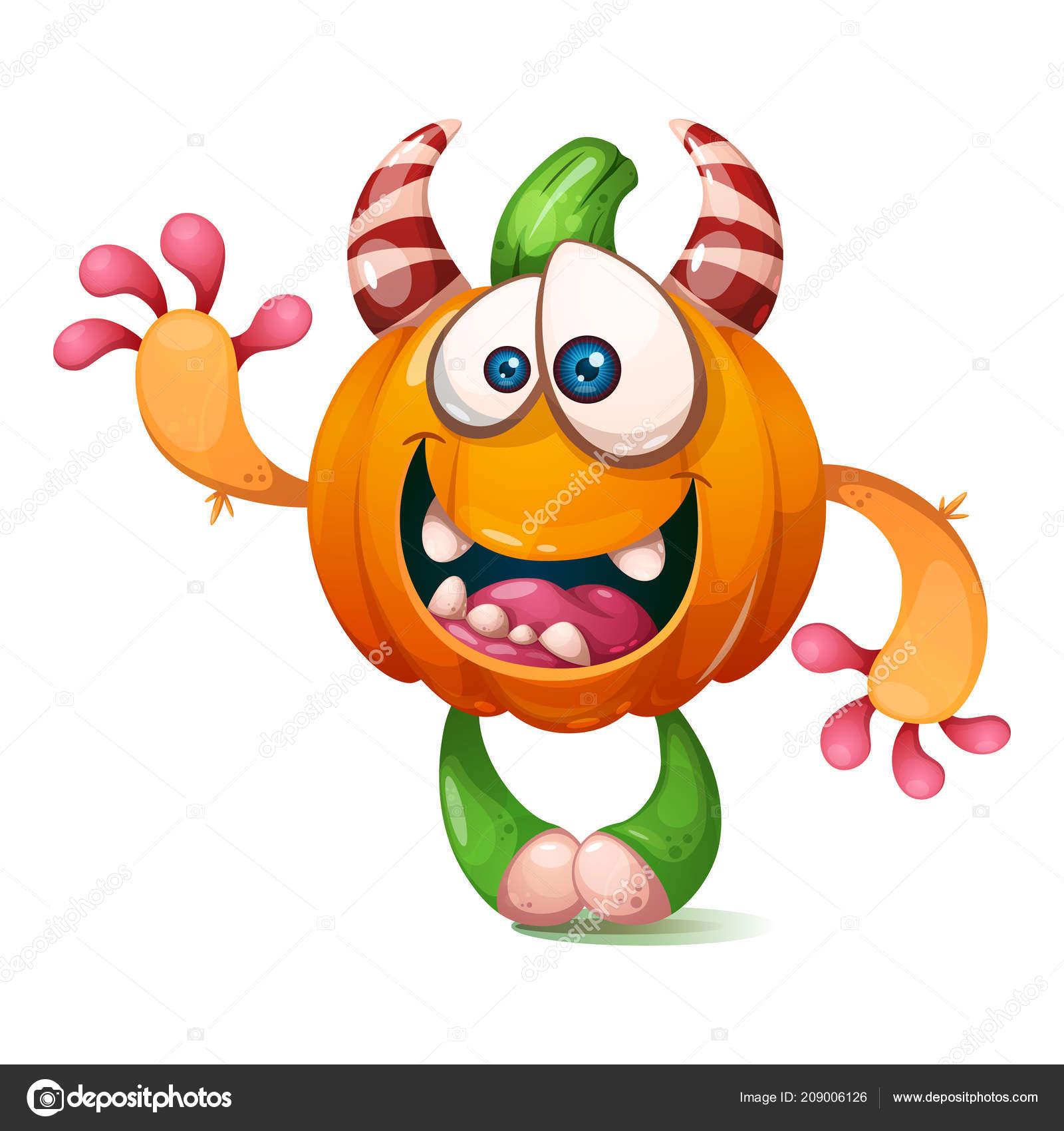 Kreslene Vtipy Vtipne Crazy Dynova Znaku Ilustrace Halloween