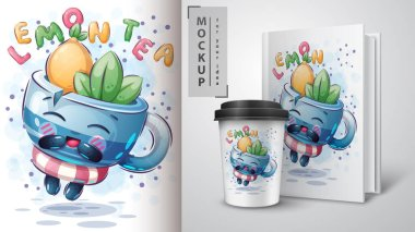 Tea with Mint and Lemon poster and merchandising