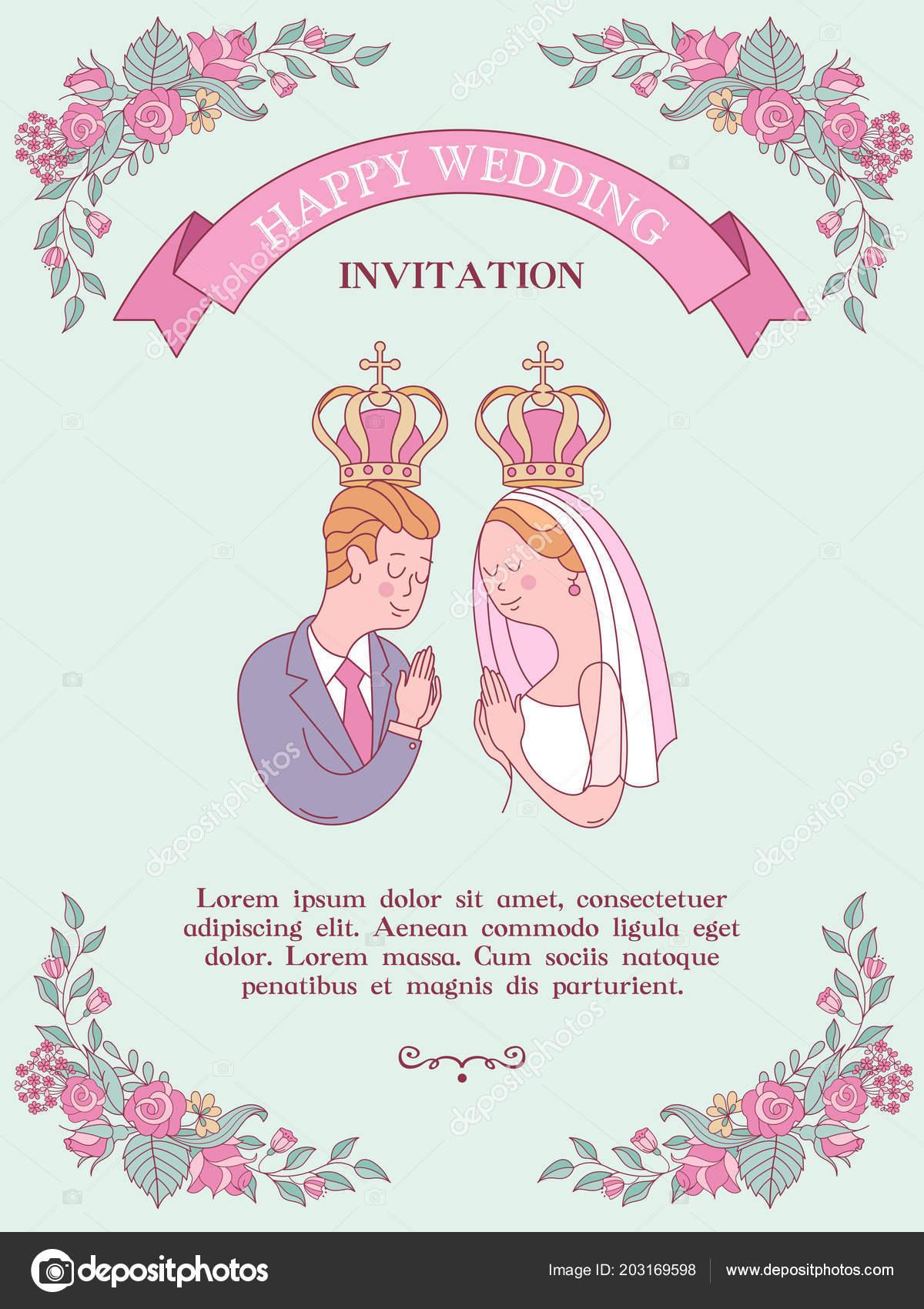 Wedding invitation wedding card wedding church bride groom wedding wedding invitation wedding card wedding church bride groom wedding crowns vetor de stock stopboris Images