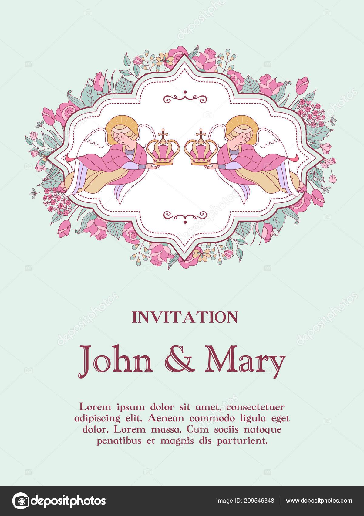 Glucklich Hochzeiten Hochzeitskarte Hochzeitseinladung Zwei Engel