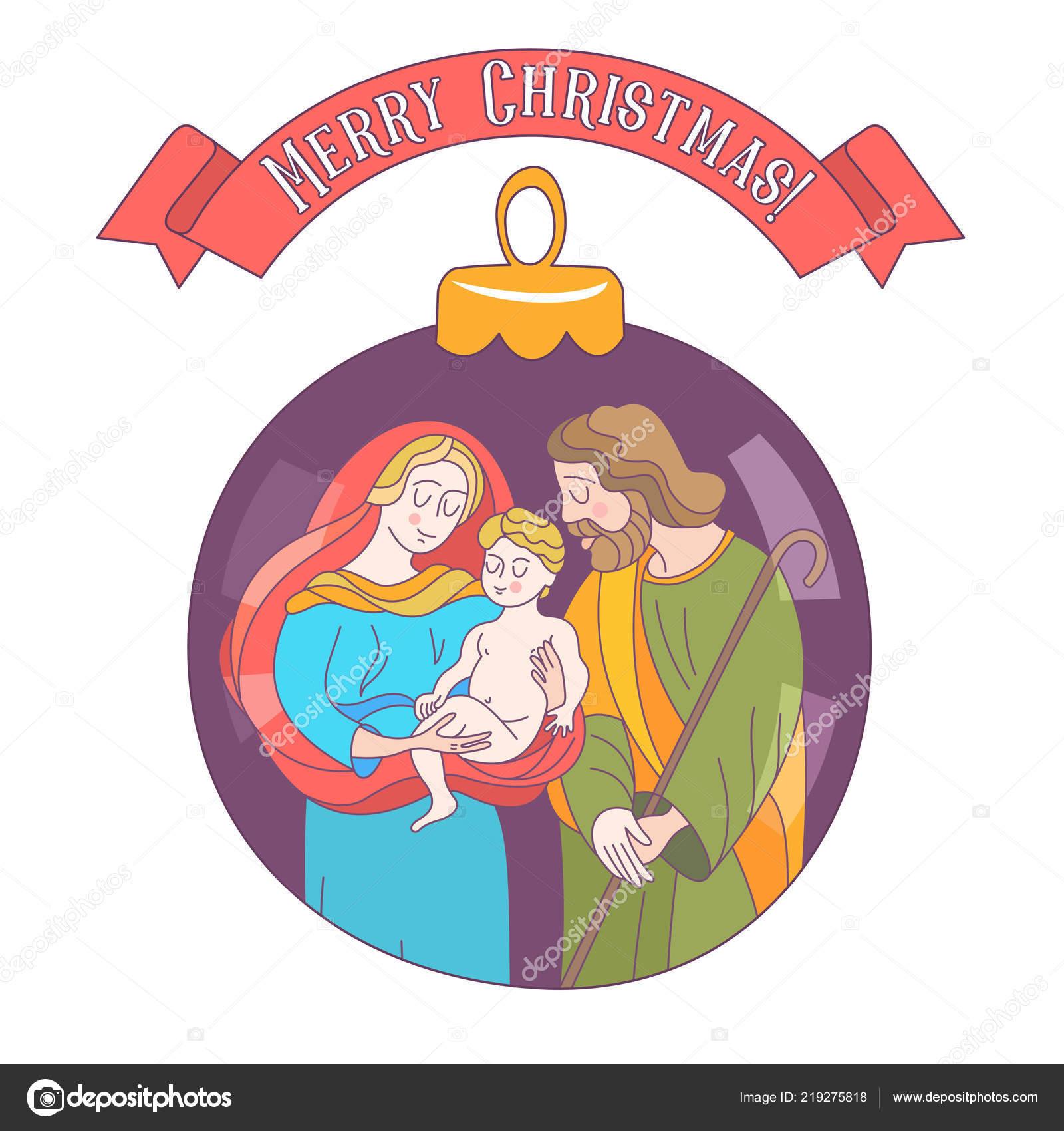 Fotos De Navidad Del Nino Jesus.Feliz Navidad Tarjeta Felicitacion Vector Virgen Maria Nino