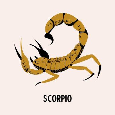 Scorpio. Constellation of Scorpio. Vector illustration on a light background.
