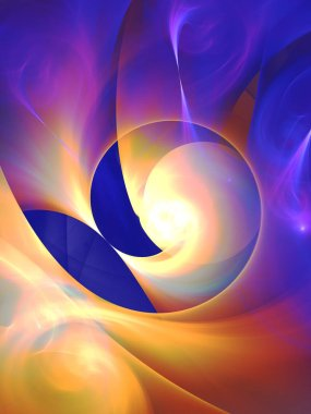 blue abstract fractal background 3d rendering