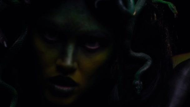 Slowly moving Medusa Gorgon, legend and myth, ancient Greece