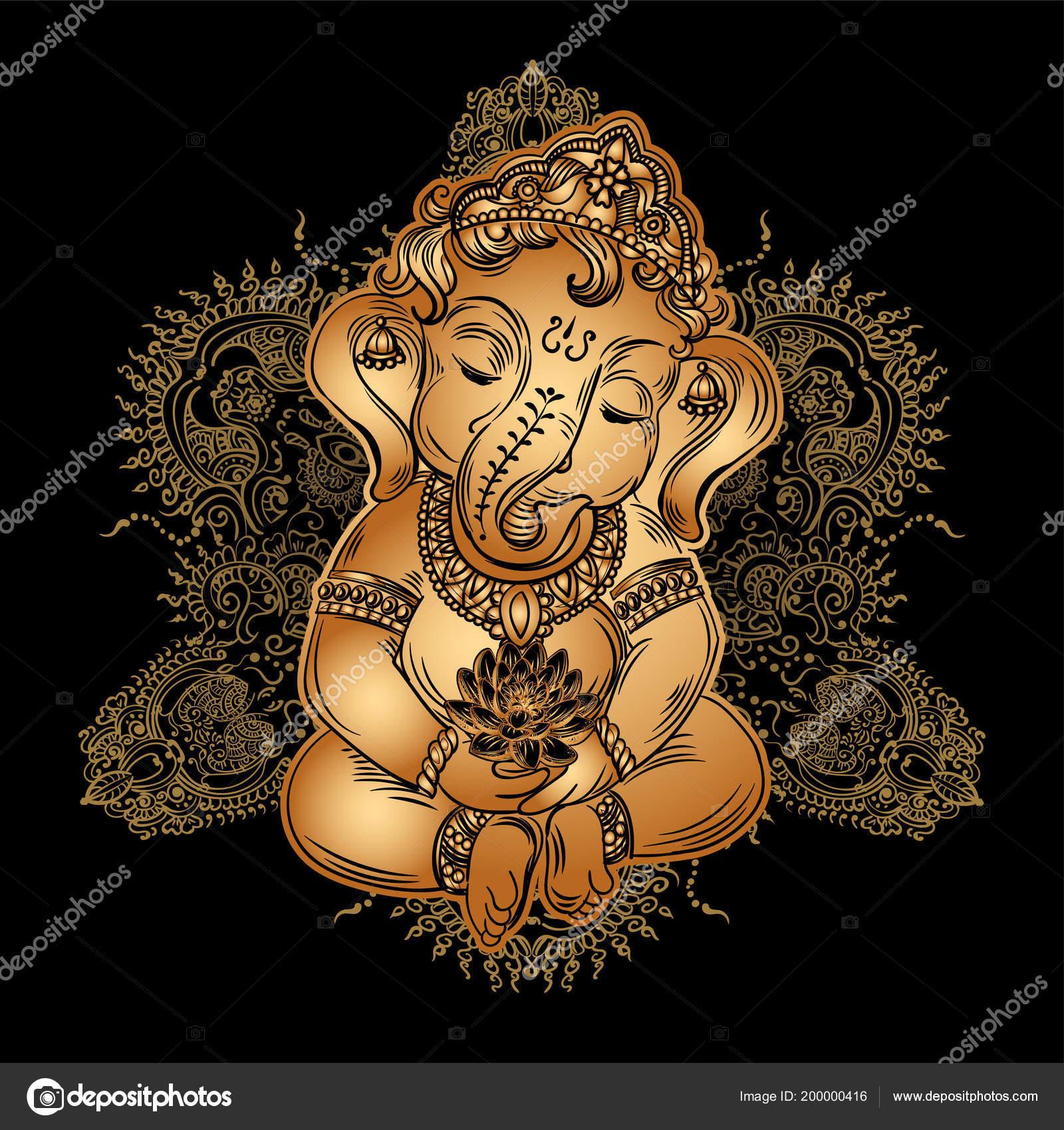 ᐈ Bal Ganesha Royalty Free Hindu God Cartoon Cliparts Download On Depositphotos
