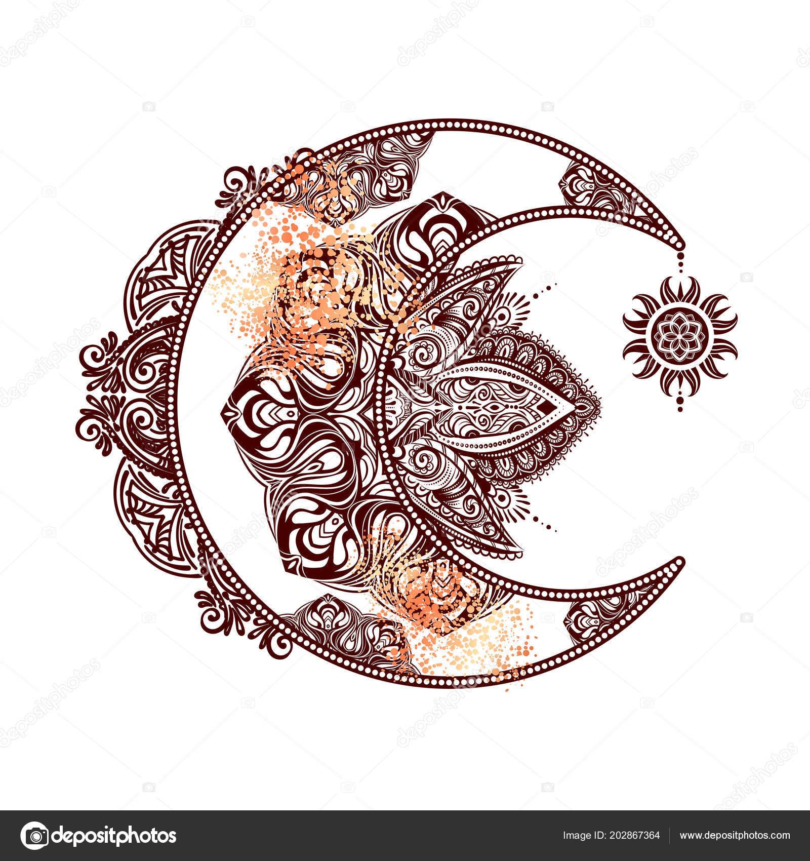 Soleil Lune Alchimie Image Vectorielle Yulianas C 202867364