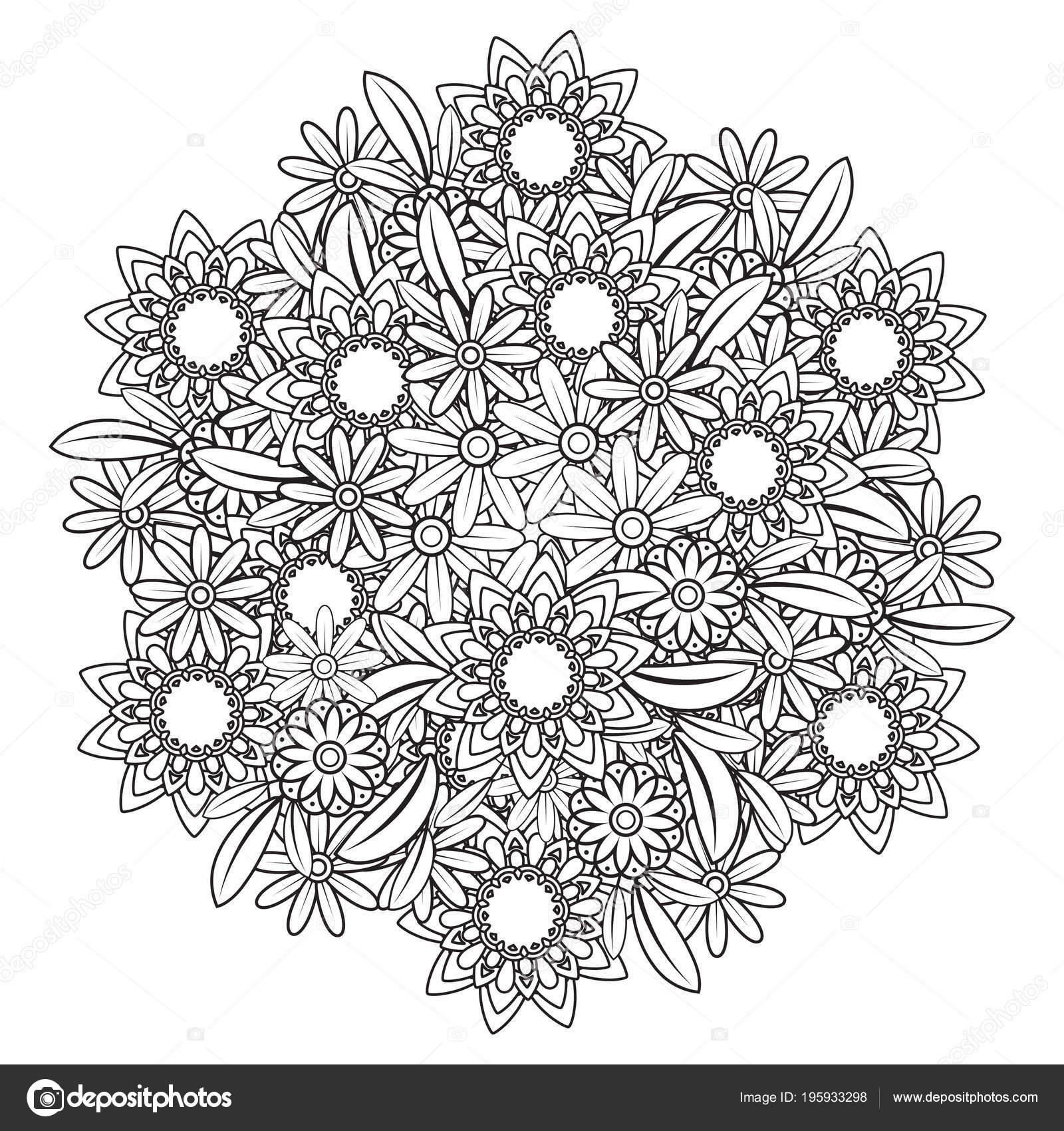 Verwonderend Bloemen Mandala patroon — Stockvector © elinorka #195933298 IO-66