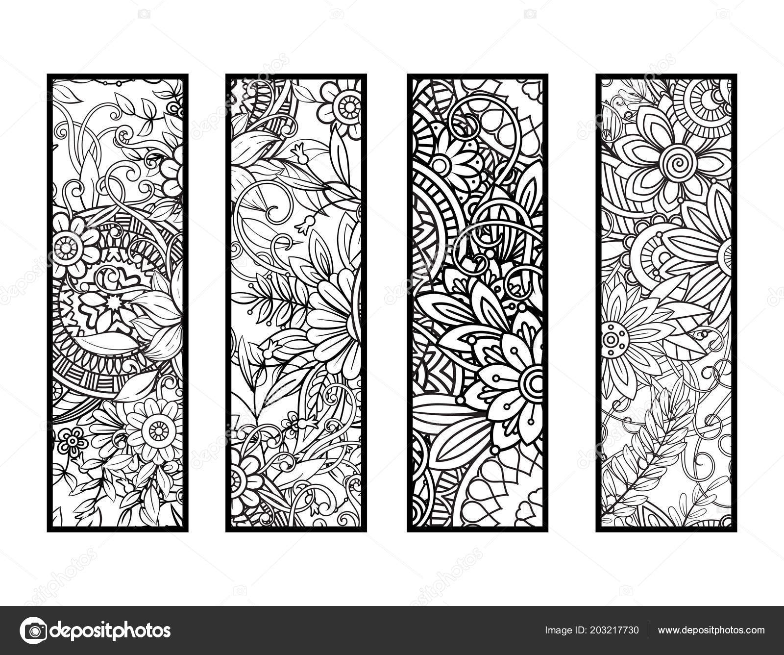 Coloring bookmarks set — Stock Vector © elinorka #203217730