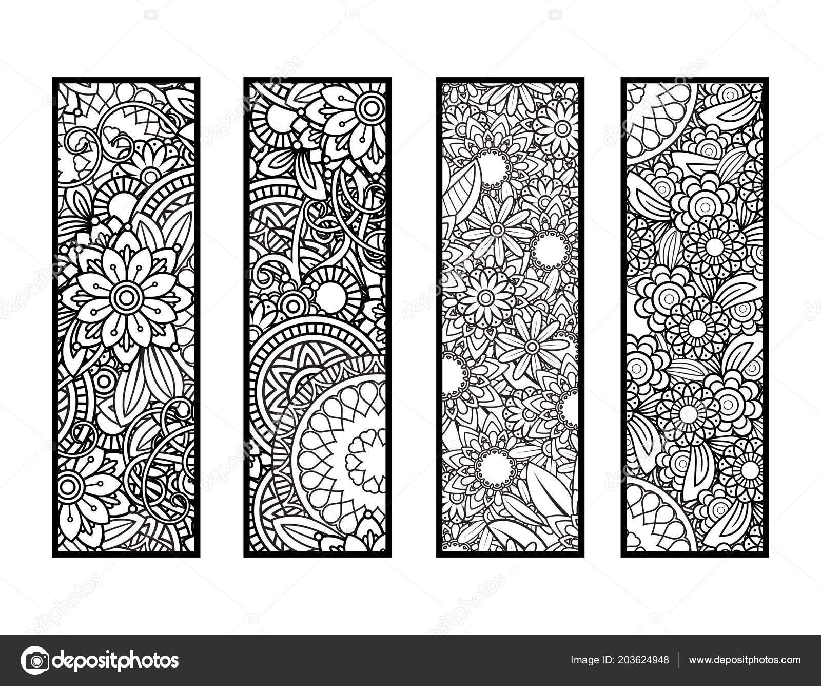 Coloring bookmarks set — Stock Vector © elinorka #203624948