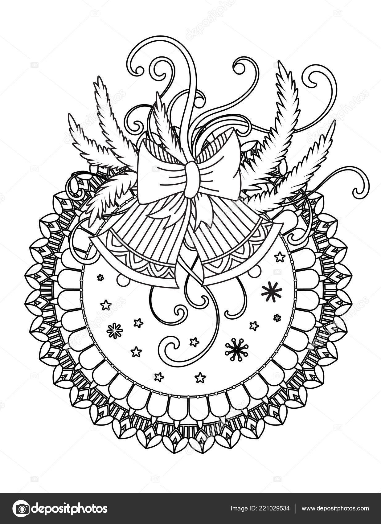 Christmas coloring page — Stock Vector © elinorka #221029534