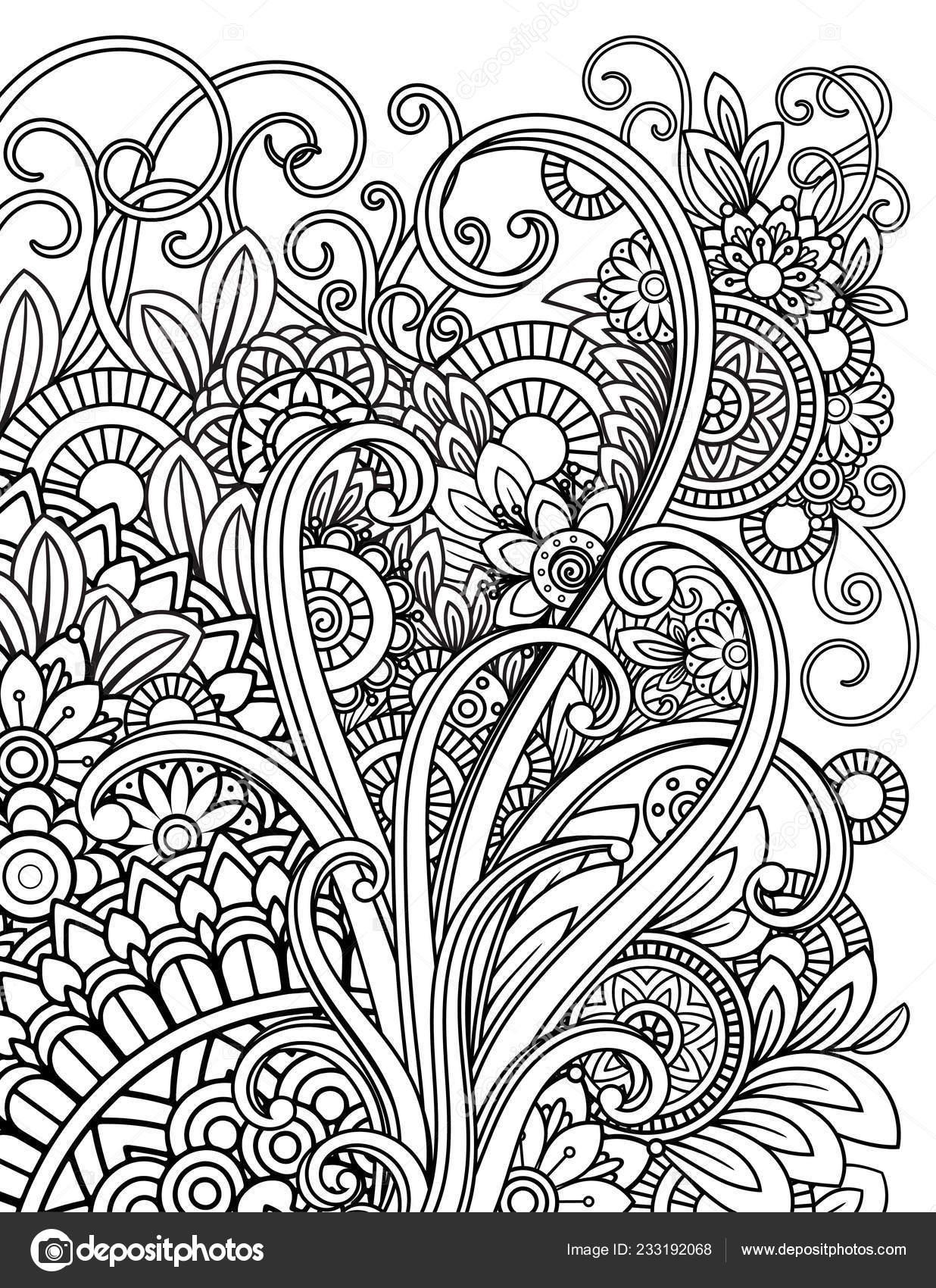 Mandala Malvorlagen Erwachsene Stockvektor Elinorka 233192068