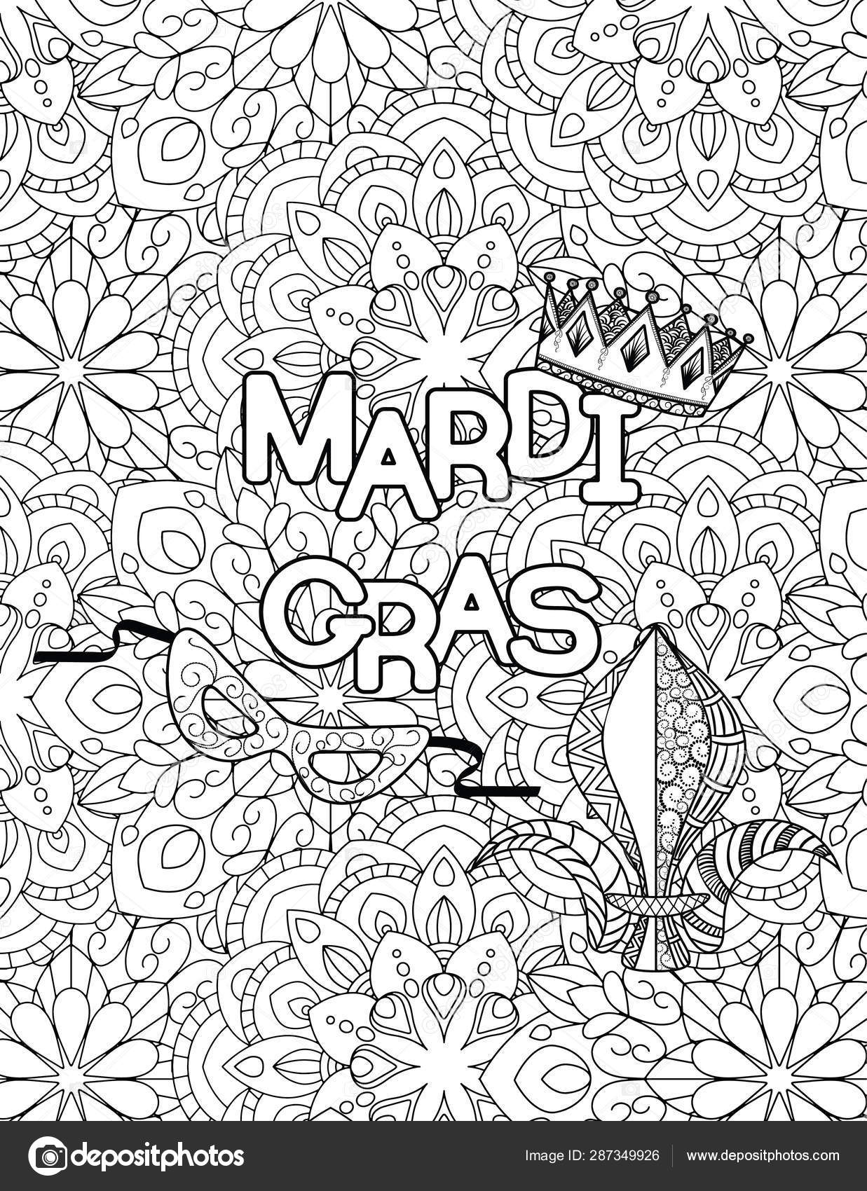 7 Top Places to Find Free Mardi Gras Coloring Pages | 1700x1237