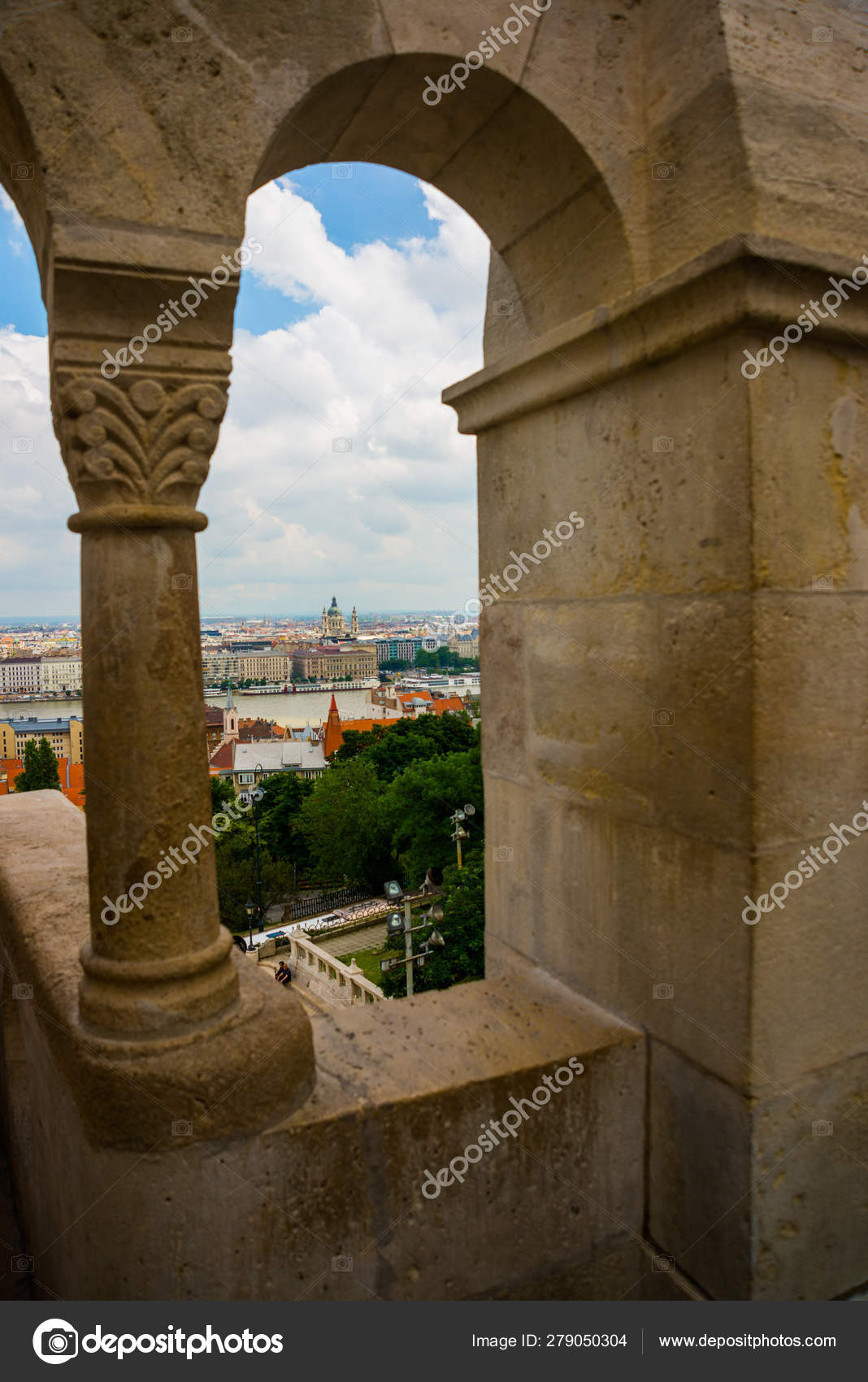 Budapest, Hungary: Beautiful landscape with a bridge on the Danube