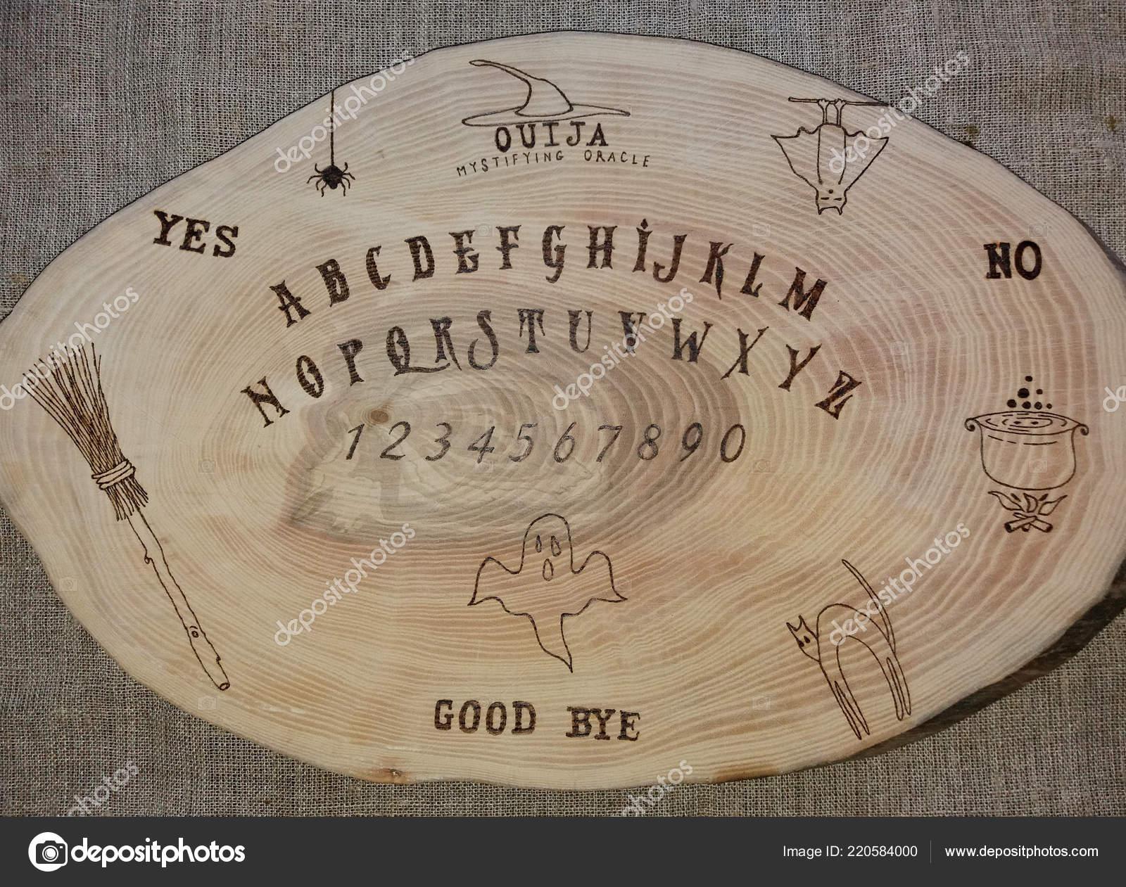 Wooden Ouija Board Game Planchette Stock Photo C Khalaziy 220584000
