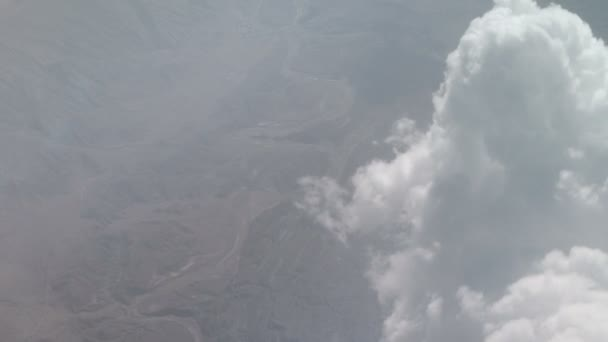 View from the plane at moving clouds. Sky background. Heaven