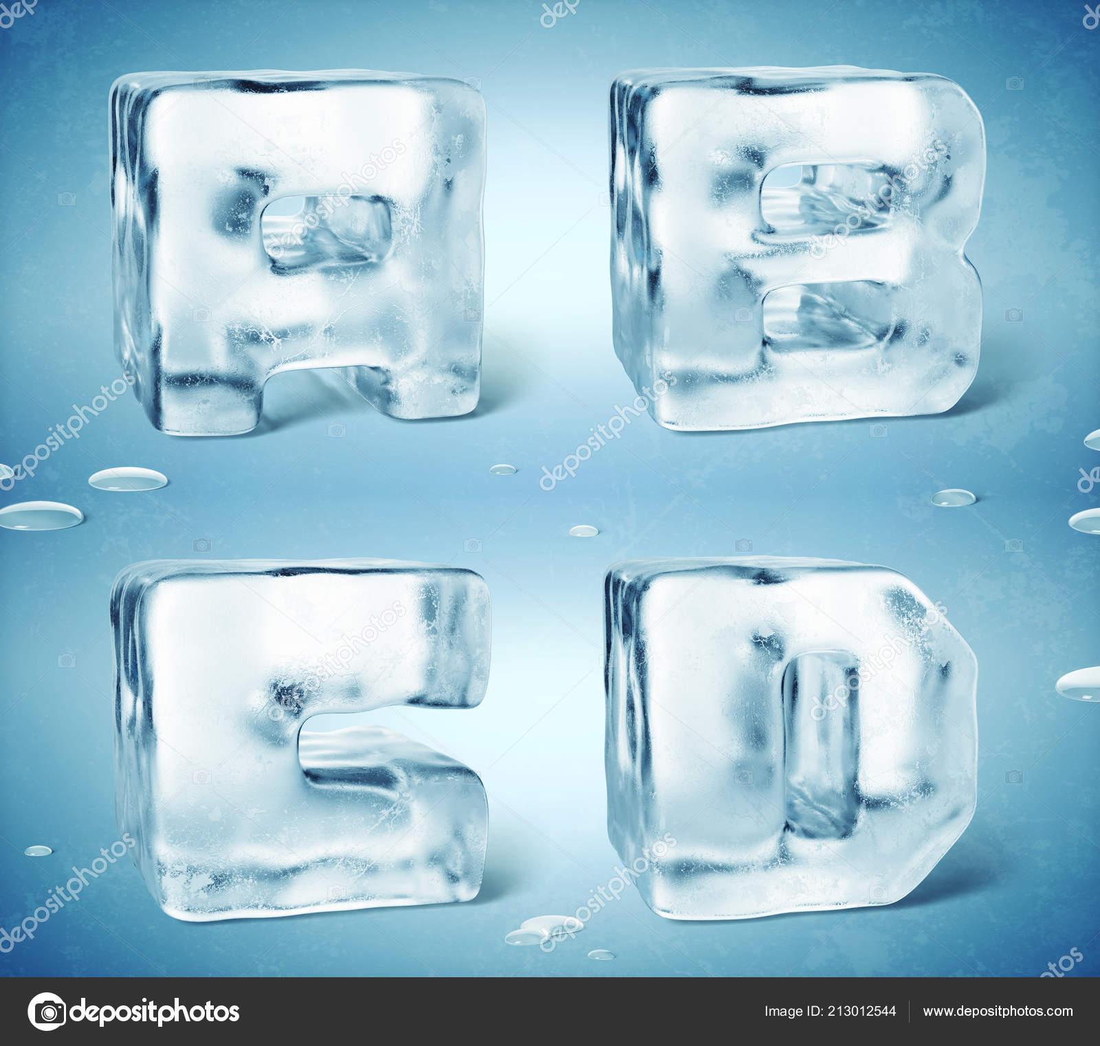 3d Render Of Shiny Frozen Ice Cube Letters Photo By Gleb Guralnyk