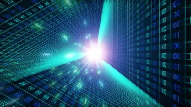Binär-Code Hintergrund. Cloud-Computing, Iot und künstliche Intelligenz (KI) Konzept